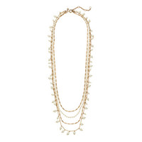PEARLS AND CHAINS NECKLACE