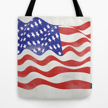 United States Flag - USA Tote Bag by All Is One
