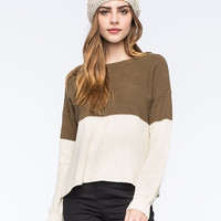 Volcom Fine Lines Womens Sweater Olive Combo  In Sizes