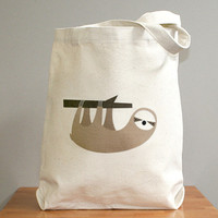 Sloth canvas tote bag