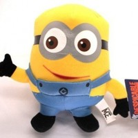 Despicable Me Movie Cartoon Minion Dave 6 Inches Plush Soft Stuffed Figure Doll Toy