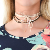 Ecstatic Taupe Choker Set
