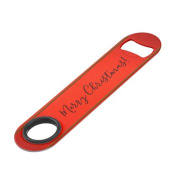 Multicolored Christmas lights. Add text or name. Speed Bottle Opener