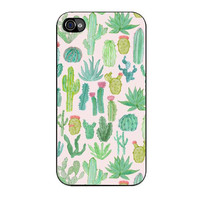 cactus pattern case for iphone 4 4s