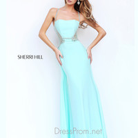 Beaded Spaghetti Straps Formal Prom Gown By Sherri Hill 8558