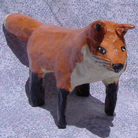 Paper mache Red Fox