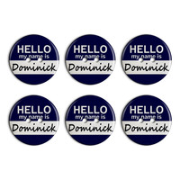 Dominick Hello My Name Is Plastic Resin Button Set of 6