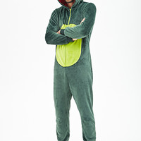 Plush Dinosaur Jumpsuit Green/Lime