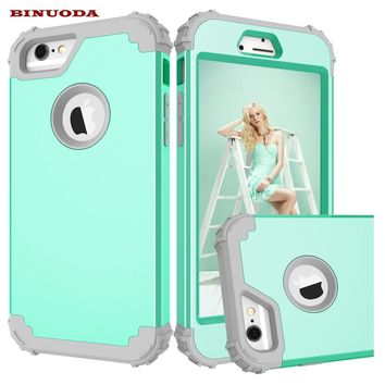 For Apple iPhone 6S Case Shockproof Protect Hybrid Hard Rubber Impact Armor Phone Cases For iPhone 6 /6 Plus/ 6S Plus/ 7 /7 Plus
