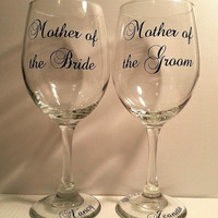 Mother of the Bride + Mother of the Groom Glassware || 20 oz. Wine Glasses