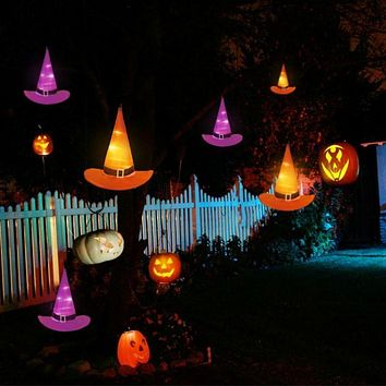 6PCS, 10M Halloween Decorations, Witch Hats, Caps, String Lights, Outdoor Lights