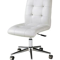 Hoquiam Ivory Office Chair in chrome/aluminum upholstered in Pu Ivory