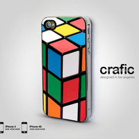 Vintage Rubix Cube  iPhone 4 case iPhone 4s case  Retro by CRAFIC