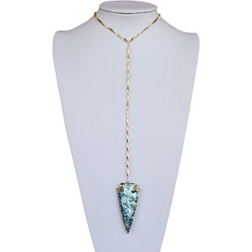 Titanium Arrowhead Necklace