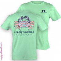 Simply Southern Crab Tee - Green