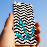 Bling Rhinestone Anchor Chevron Phone Case