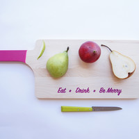 Engraved Maple Serving Board, Fall   Winter Colors