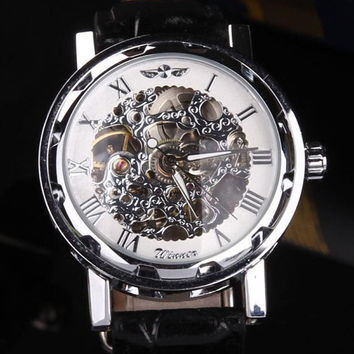 steampunk Watch Mes gear watch skeleton Watch Mechanical Watch Mens Watch Womens Watch Man Watches Women Watches
