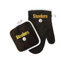 Steelers Oven Mitt and Pot Holder Set