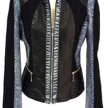 Leather & Lace Jean Jacket