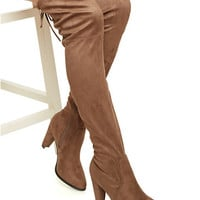 Over-The-Knee Boots with Cinch at Top