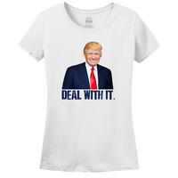 Minty Tees DONALD TRUMP Deal With It Women's Tee