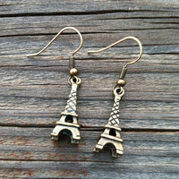 Metal Eiffel Tower Earrings