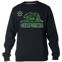 California Marijuana Bear Sweatshirt Sweater Crewneck Men or Women Unisex Size
