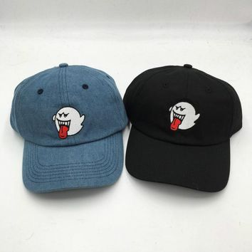which in shower adult unisex casual adjustable baseball cap for women men stitched ghost snapback denim hat male rapper dad hats