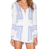 THE JETSET DIARIES Settle Down Romper in White