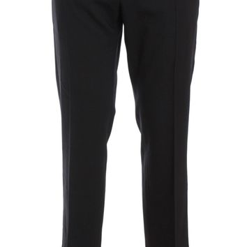 Gray Wool Stretch Cropped Pants