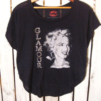 Marilyn Monroe T-Shirt Glamour, Bedazzled T-Shirt, Women's Size Large. Very Cute!