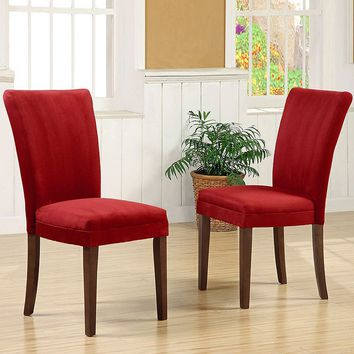 HomeVance 2-pc. Parsons Dining Chair Set (Red)