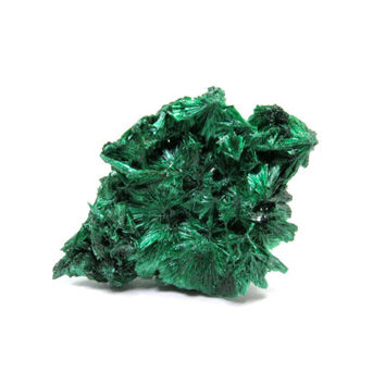 Malachite Specimen Natural Velvet Raw Crystal 31mm x 21mm x 13mm Green Rough Stone Miniature, New Age, Wicca, Metaphysical (Lot6018)