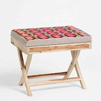 Diamond Print Stool- Multi One
