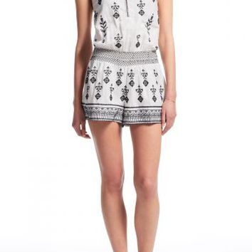 Timpana Medallion Embroidered Linen Romper | Calypso St. Barth