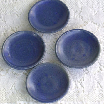 Vintage Handmade Child's Pottery Cups Saucers Sugar and Creamer Set