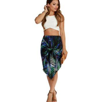 Promo- Black Hott Palms Skirt