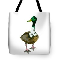 "A Proud Duck Tote Bag 18"" x 18"""