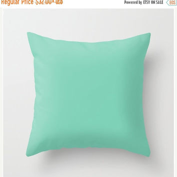 On Sale Green Pillow Case Cover Lucite Green mint Aqua Cushion Cover Pantone 2015 16x16 18x18 20x20 Square Home Decor