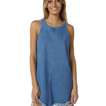 A.BRAND A WOMENS DENIM DRESS - BLUE FLASH