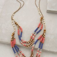 Sundown Tiered Necklace by Anthropologie Blue Motif One Size Necklaces