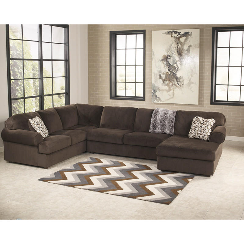 Discount Furniture Milwaukee: Jessa Place Sectional In Chocolate Fabric From Contemporary