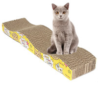 LS4G S-Shaped Cat Kitten Corrugated Scratch Board Pad Scratcher Bed Mat Claws Care Interactive Toy For Pet Cat Training Cat Toy