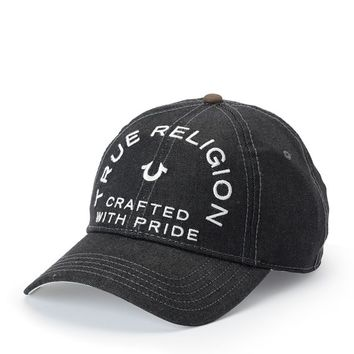 True Religion Crafted With Pride Denim Baseball Cap - Black
