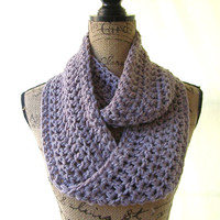 Ready To Ship Lavender Smoke Cowl Scarf Fall Winter Women's Accessory Infinity