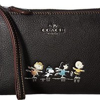 COACH Womens Box Program Snoopy Small Wristlet