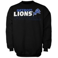 Detroit Lions Horizontal Text Sweatshirt - Black