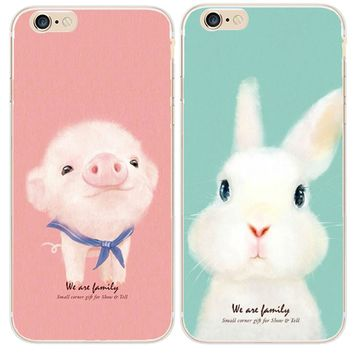 Ruic Lovely Cartoon Animal Dog Pig Rabbit Case For iphone 7 Case For iphone7 6S 6 Plus 5 5S Phone Cases Fashion Hard PC Cover