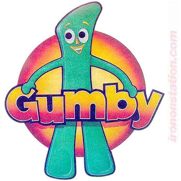 """Gumby """"Howdy Doody"""" Gingerbread Man Vintage 70s Iron On tee shirt transfer Original Authentic"""